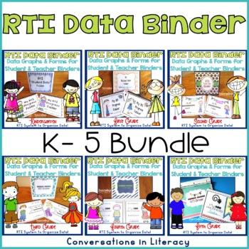 Student Data Tracking Sheets RTI  Binders Teachers & Students K-5 The Bundle