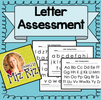 RTI Data Tracking Worksheets for Letter Sounds and Letter Names