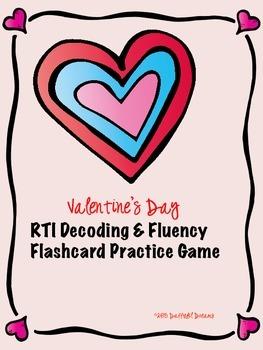 RTI Decoding & Fluency Practice Game:  Valentine's Day