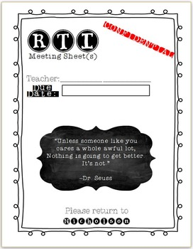 RTI Envelope Sheet