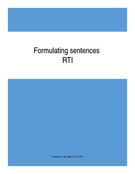 RTI Formulating Sentences