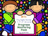 RTI: Fry Sight Word Progress Monitoring Pack