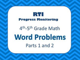 RTI Grades 4-5 Math Word Problems BUNDLE