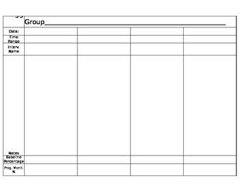 RTI Group Recording Sheet