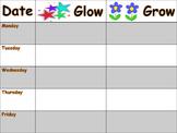 RTI Grow and Glow Chart
