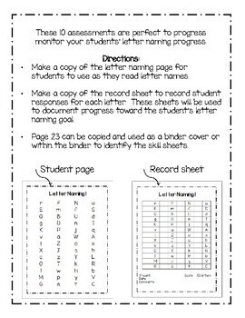 RTI & IEP: Progress Monitoring (Alphabet-Letter Naming)