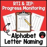 RTI & IEP: Progress Monitoring (Alphabet-Letter Naming)