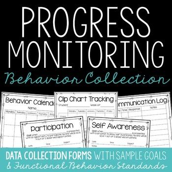 RTI & IEP Progress Monitoring Data Collection Forms {Behavior Edition}