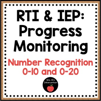 RTI & IEP: Progress Monitoring (Number Recognition)