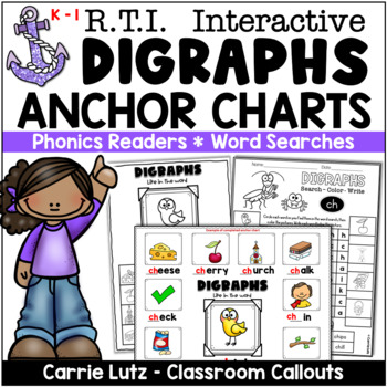 Phonics Anchor Charts and Activities for Digraphs