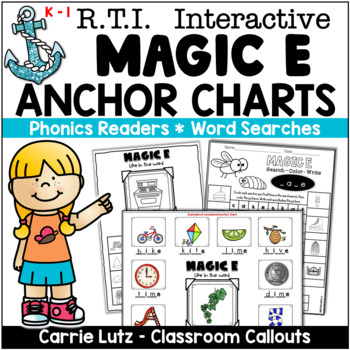 """Phonics Anchor Charts and Activities for Magic """"e"""""""