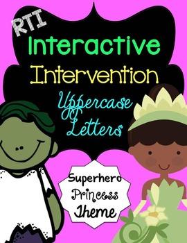 RTI Interactive Interventions Uppercase Letters (Superhero