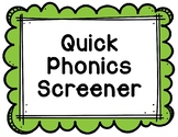 RTI Intervention Data Phonics Screener