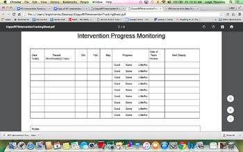 RTI Intervention Data Tracker & Progress Monitoring