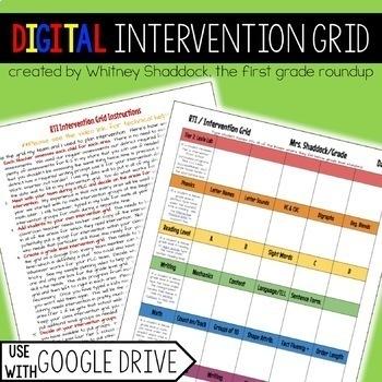 RTI Intervention Grid: Google Drive