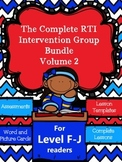 RTI Intervention/Guided Reading/Tutoring Bundle Volume 2-Level F-J (10-18)