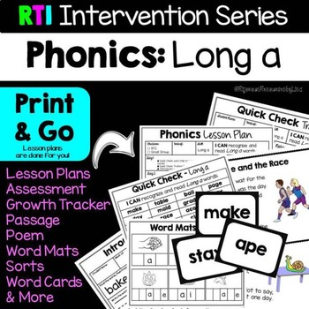 RTI Interventions | Phonics | Long a