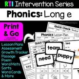 RTI Interventions | Phonics | Long e