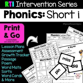 RTI Interventions | Phonics | Short i