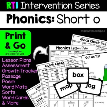 RTI Interventions | Phonics | Short o