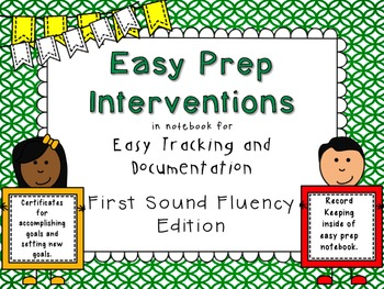 RTI Interventions for First Sounds, Beginning Sounds, Initial Sounds