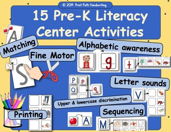 RTI: K Literacy, Early Concepts of Print, 15 fun Activities