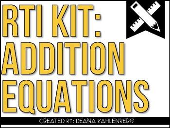 RTI Kit: Addition Equations