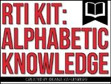 RTI Kit: Alphabetic Knowledge