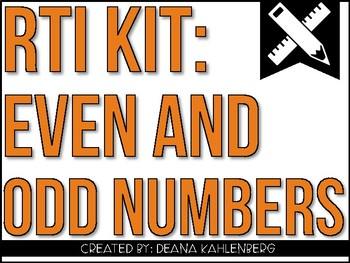 RTI Kit: Even and Odd Numbers