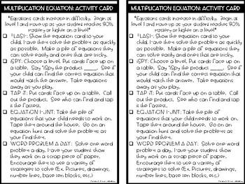 RTI Kit: Multiplication Equations