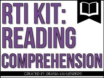 RTI Kit: Reading Comprehension