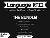 RTI Language Intervention: BUNDLE OF ALL 5 PACKETS