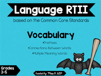 RTI Language Intervention: Vocabulary