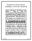 RTI: Language, Listening & Speaking