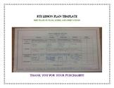 RTI Lesson Plan Template