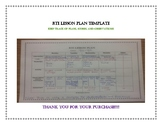 RTI Lesson Plan Template