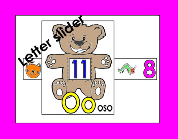 RTI Letter Oo slider: Oo oso in Spanish