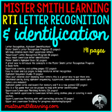 RTI Letter Recognition, Letter Identification w/ Mister Smith Learning
