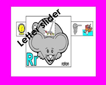 RTI Letter Rr slider: Rr raton in Spanish