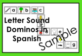 RTI Letter Sound Dominos-like game in Spanish (black/white only)