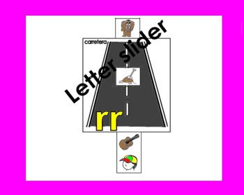 RTI Letter rr slider: rr en Carreta in Spanish