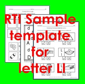 "RTI Ll ""fonema"" correspondiente activities set of 3"