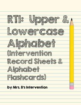 RTI: Upper and Lowercase Alphabet