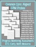 RTI Math CBM's: Common Core Aligned Assessments for the Primary Classroom