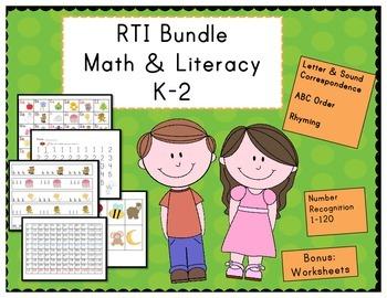 RTI Math & Literacy Bundle