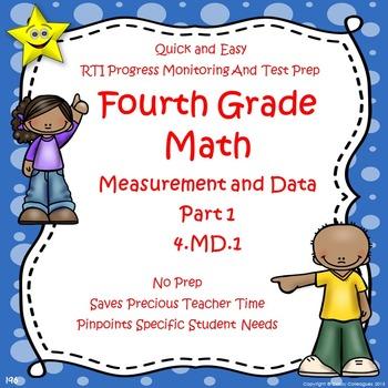 Math Measurement and Data Quizzes, Part 1