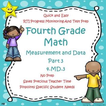 Math Measurement and Data Quizzes, Part 3