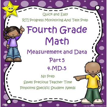 Math Measurement and Data Quizzes, Part 5