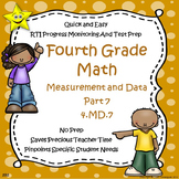Math Measurement and Data Quizzes, Part 7 Distance Learning