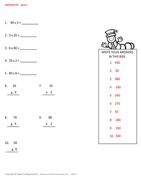 Math Number and Operations Quizzes, Part 3